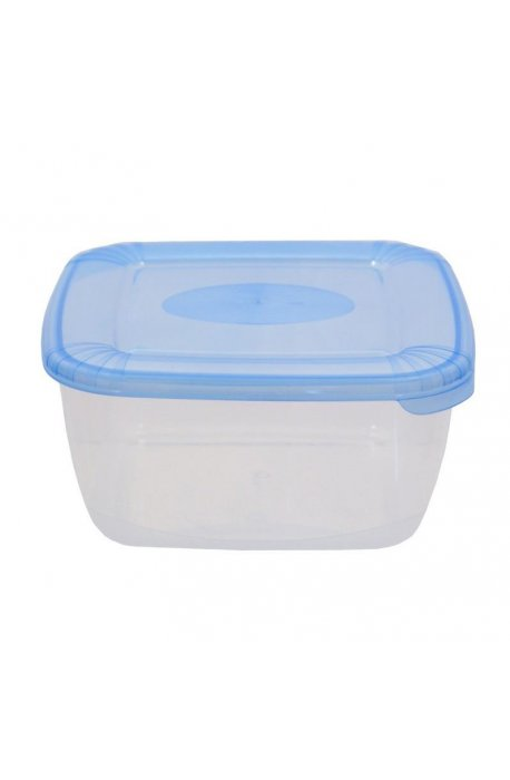 Pojemniki do żywności - Pojemnik Polar Kwadratowy 1,5l Niebieski 1676  Plast Team -
