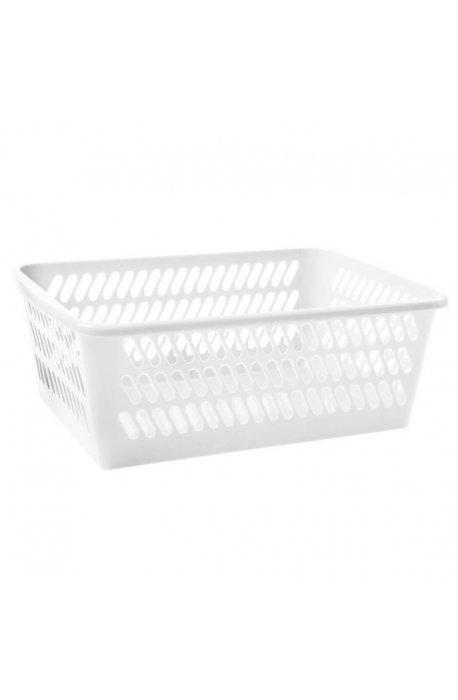 Koszyki - Koszyk K4 36,5x25,5x14,5cm Biały 1025 Plast Team -