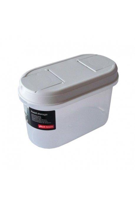 Pojemniki do żywności - Pojemnik Z Dozownikiem 1,1l 1125 Biały Plast Team -