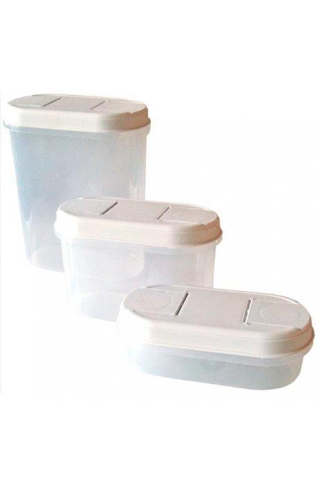 Pojemniki do żywności - Dozowniki 3szt Mix Rozmiarów 1123 Biały Plast Team -