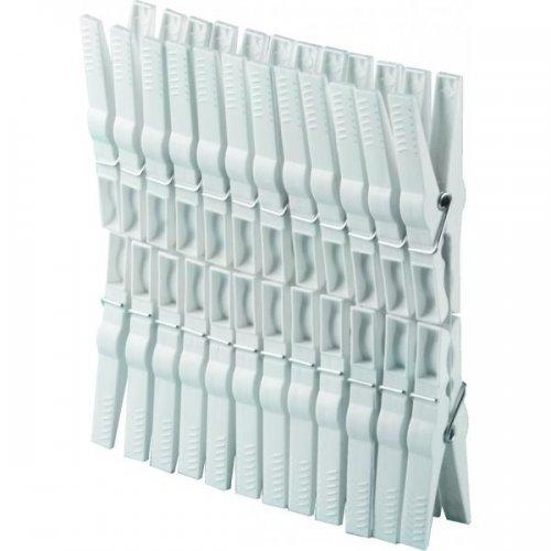 Klamerki Do Bielizny 24szt Białe 1031 Plast Team