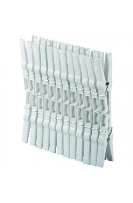 Klamerki, linki, sznury do bielizny - Klamerki Do Bielizny 24szt Białe 1031 Plast Team -