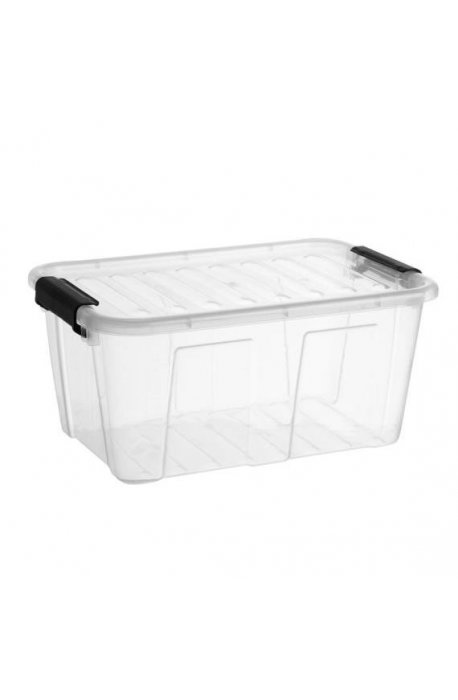 Pojemniki uniwersalne - Pojemnik Home Box 8l Z Czarny Uchwyt 2238 Plast Team -