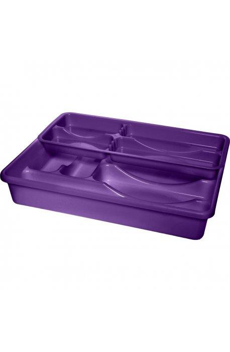 Wkłady do szuflad - Wkład Do Szuflad Dwurzędowy 1392 Fioletowy  Plast Team -