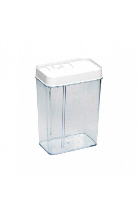 Pojemniki do żywności - Pojemnik Z Dozownikiem I Z Miarką 1,2l 1178 Biały Plast Team -