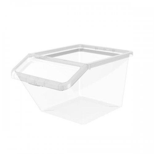 Pojemnik Basic 40l Box Uchylny 2287 Transparentrny Plast Team
