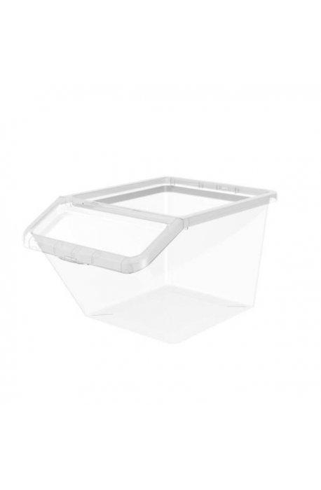 Pojemniki uniwersalne - Pojemnik Basic 40l Box Uchylny 2287 Transparentrny Plast Team -