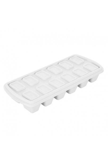 Foremki i formy do pieczenia, do lodu - Pojemnik Na Kostki Lodu Lód Biały 1808 Plast Team -