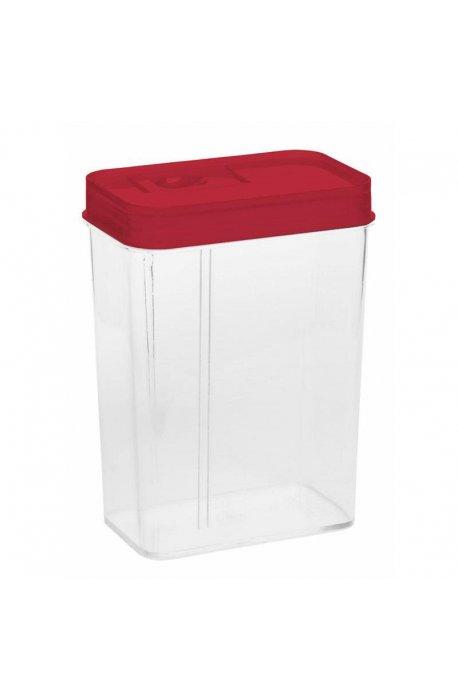 Pojemniki do żywności - Pojemnik Z Dozownikiem I Z Miarką 1,2l 1178 Czewony Plast Team -