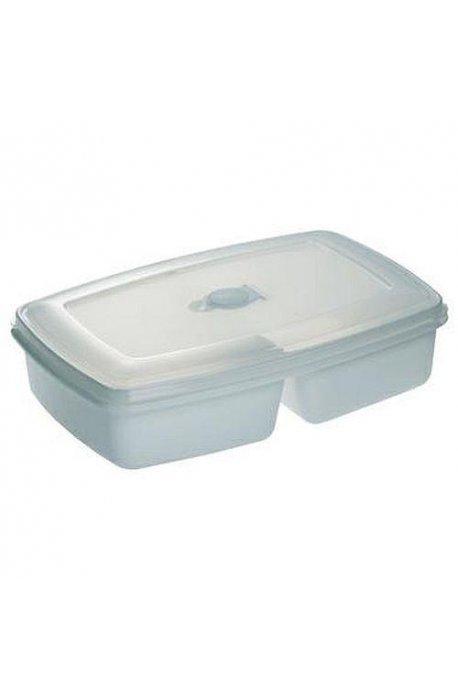 Pojemniki do żywności - Pojemnik Do Mikrofalówki Podwójny Biały 3104 Plast Team -