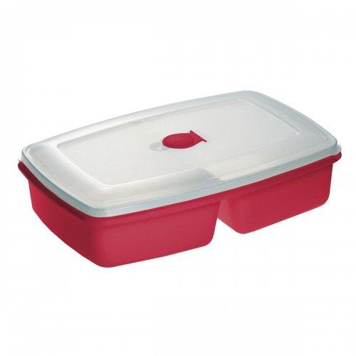 Pojemnik Do Mikrofalówki Podwójny Czerwony 3104 Plast Team