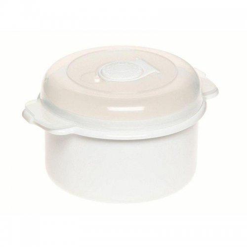 Pojemnik Do Mikrofalówki 0,5l 3106 Okrągły Biały Plast Team