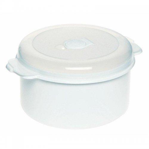 Pojemnik Do Mikrofalówki 1,5l 3107 Okrągły Biały Plast Team