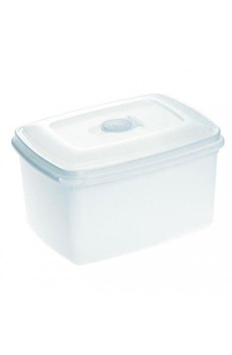 Pojemniki do żywności - Pojemnik Do Mikrofalówki 2,3l Top Box Biały 1545 Plast Team -