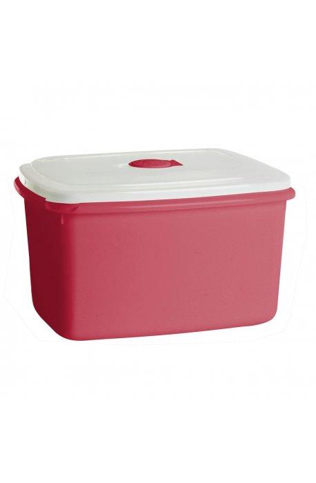 Pojemniki do żywności - Pojemnik Do Mikrofalówki 2,3l Top Box Czerwony 1545 Plast Team -