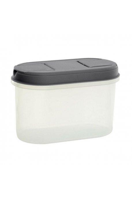 Pojemniki do żywności - Pojemnik Z Dozownikiem 1,1l 1125 Szary  Plast Team -