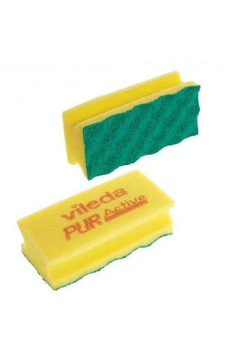 Druciaki, czyściki, zmywaki - Gąbka Pur Active Żółta 123113 Vileda Professional -
