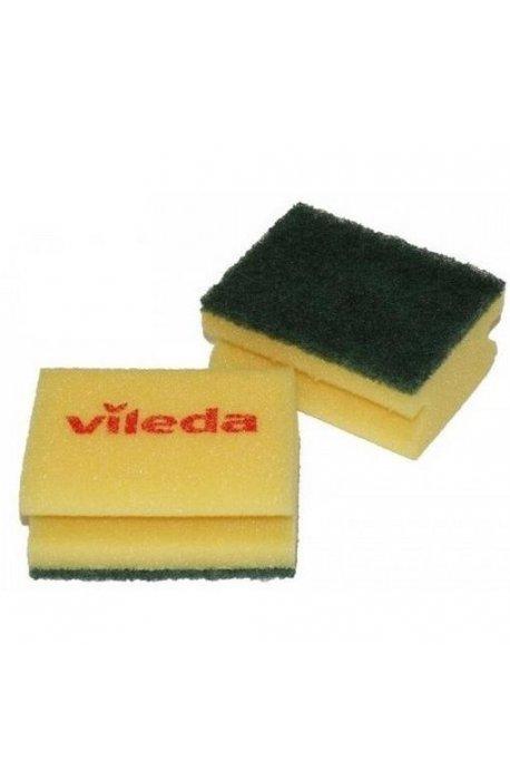 Druciaki, czyściki, zmywaki - Gąbka Zielony Pad 7x9,5cm 125603 Vileda Professional -