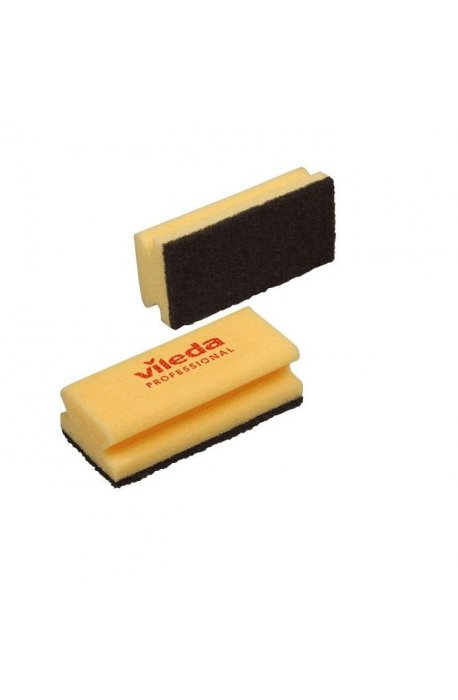Druciaki, czyściki, zmywaki - Gąbka Garnkowa Czarny Pad 7x15cm 101885 Vileda Professional -