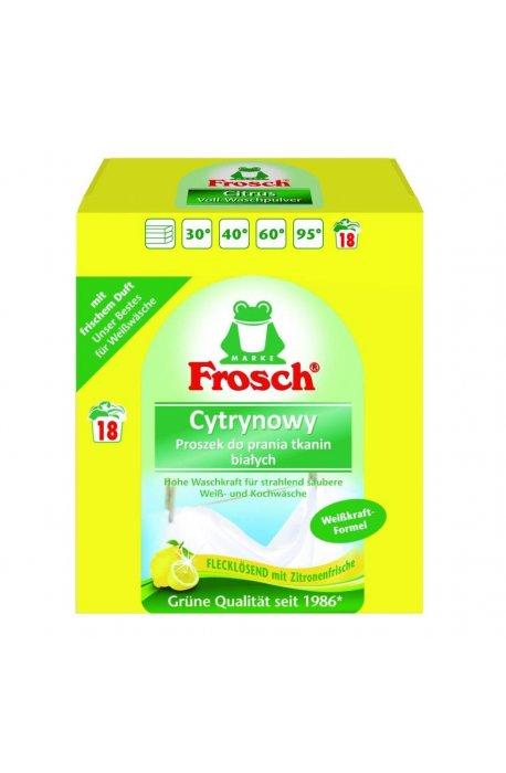 Proszki i pojemniki do prania - Proszek Do Prania Tkanin Białych Cytrynowy 1,35kg Frosch -