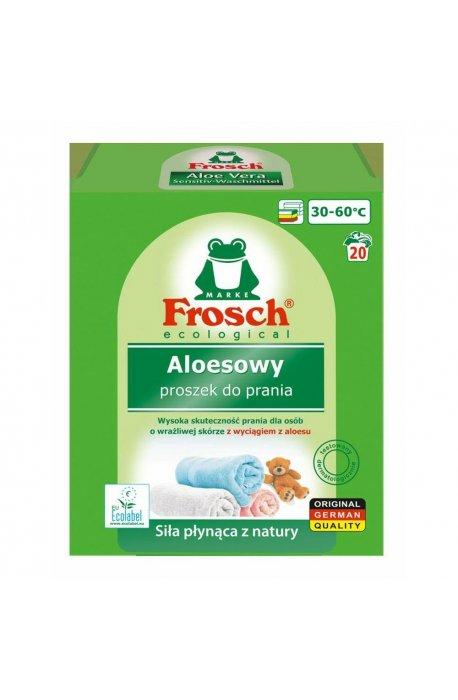 Proszki i pojemniki do prania - Proszek Do Prania Tkanin Kolorowych Aloesowy 1,35kg Frosch -