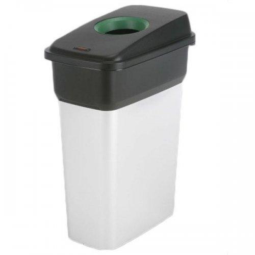 Vileda Geo Kosz metalizowany 55l 137660 + pokrywa czarno-zielona  Szkło 137666 Vileda Professional