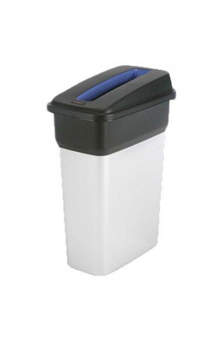 Kosze do segregacji śmieci - Kosz metalizowany 55l Geo 137660 + pokrywa czarno-niebieska Papier 137663 Vileda Profession