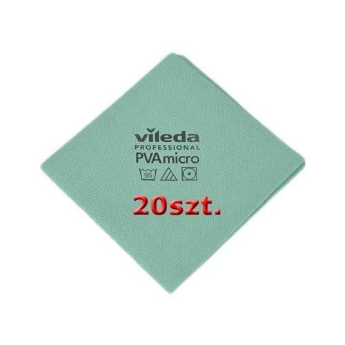 Zestaw Ścierka Pva Micro Zielona 20szt Vileda Professional