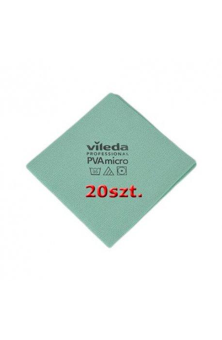 Gąbki, ścierki, szczotki - Zestaw Ścierka Pva Micro Zielona 20szt Vileda Professional -