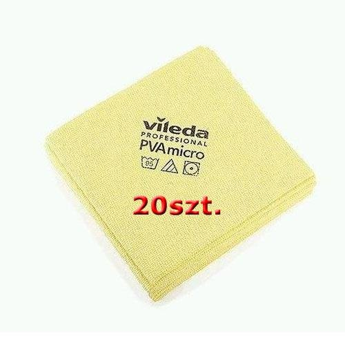 Zestaw Ścierka Pva Micro Żółta 20szt Vileda Professional