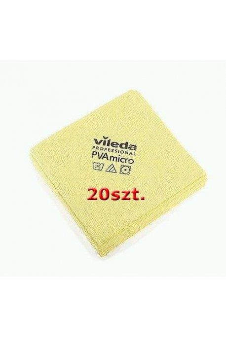 Gąbki, ścierki, szczotki - Zestaw Ścierka Pva Micro Żółta 20szt Vileda Professional -