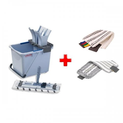 Zestaw do sprzątania podłóg Ultraspeed Starter Kit 15l + 1 Wkład Microlite + 1 Wkład Trio Vileda Professional