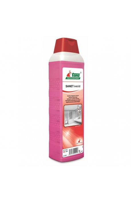 Płyny do WC lub łazienki oraz koszyki zapachowe - Środek Do Sanitariatów Sanet Ivecid 1l Tana -