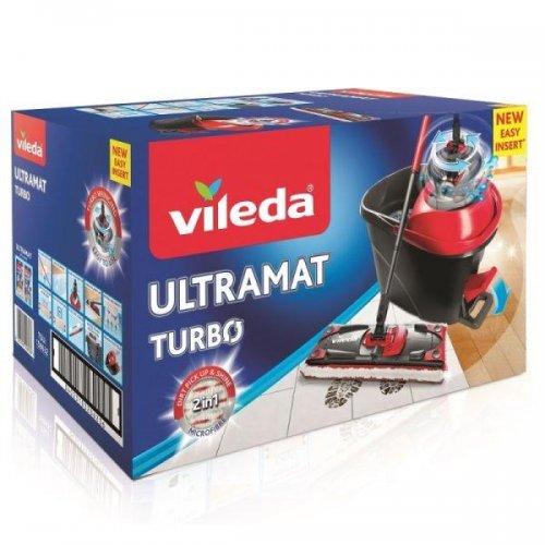 Vileda Ultramat Turbo Płaski 163425 Zestaw Mop + Wiadro
