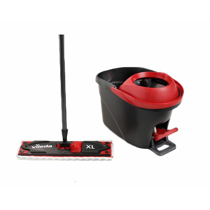 Zestawy sprzątające - Vileda Ultramat Turbo Płaski XL 161023 Zestaw Mop + Wiadro -