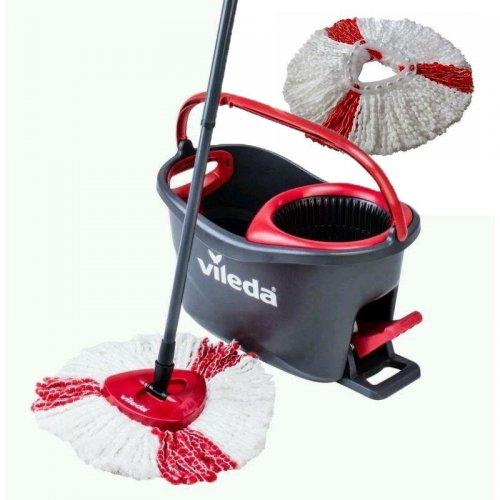 Zestaw do sprzątania podłóg Easy Wring Turbo + Wkład Turbo Czerwony 151608 Vileda