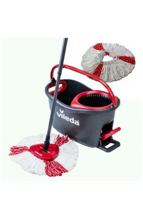 Zestawy sprzątające - Zestaw do sprzątania podłóg Easy Wring Turbo + Wkład Turbo Czerwony 151608 Vileda -