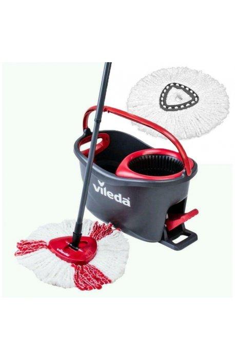 Zestawy sprzątające - Zestaw do sprzątania podłóg Easy Wring Turbo + Wkład Turbo Biały 152623 Vileda -