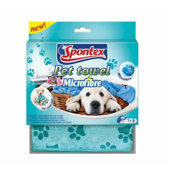 Gąbki, ścierki, szczotki - Spontex Ręcznik Pet Towel kot pies 97043065 -