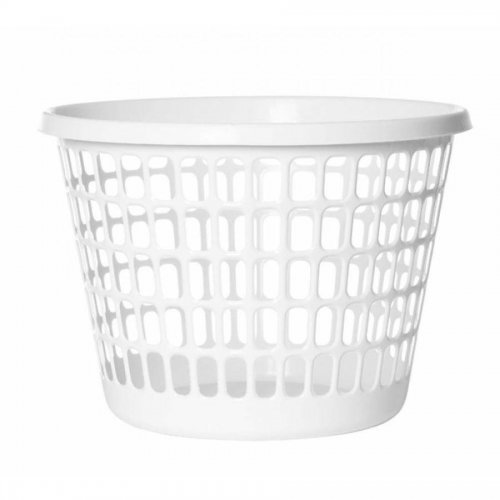 Kosz Na Bieliznę Okrągły 32l Biały 1009 Plast Team