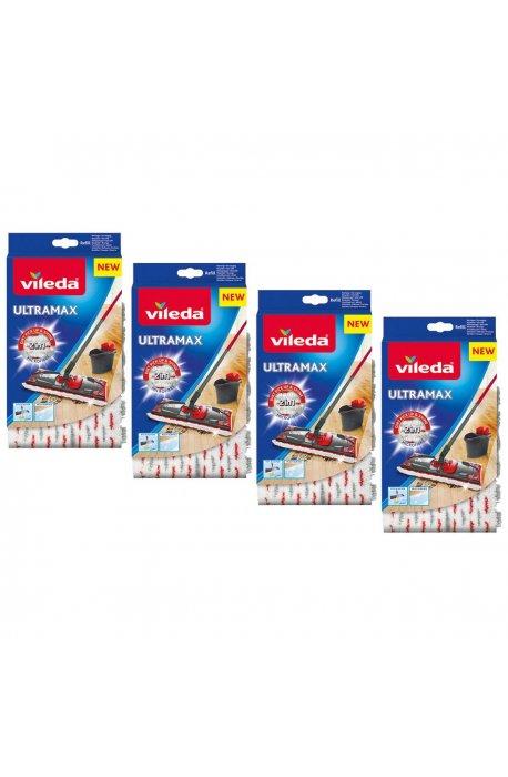 Zestawy sprzątające - Zestaw do sprzątania podłóg Ultramax Wkład 4 szt 155747 Vileda -