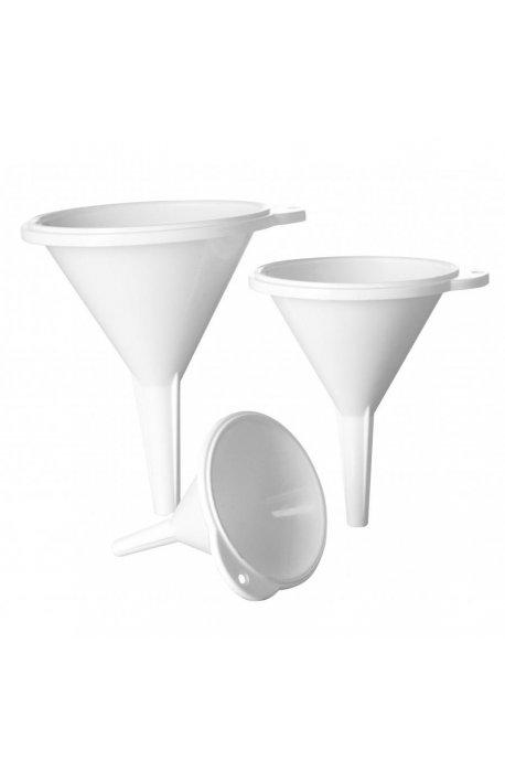Lejki, dekoratory do ciast - Zestaw Lejków 3 Szt Biały 1387 Plast Team -
