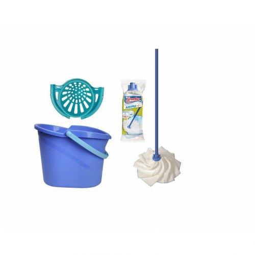 Zestaw do sprzątania podłog Wiadro Linea + Mop Ampli + Wkład Spontex