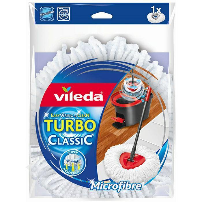 Wkłady zapasy do mopów - Vileda Easy Wring Clean Classic Wkład biały 152623 -