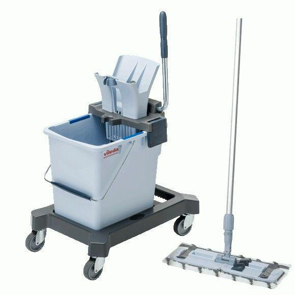Zestawy sprzątające - Vileda Ultraspeed Pro Starter Kit 25l 147182 + Kij Aluminiowy 145cm 116720 -