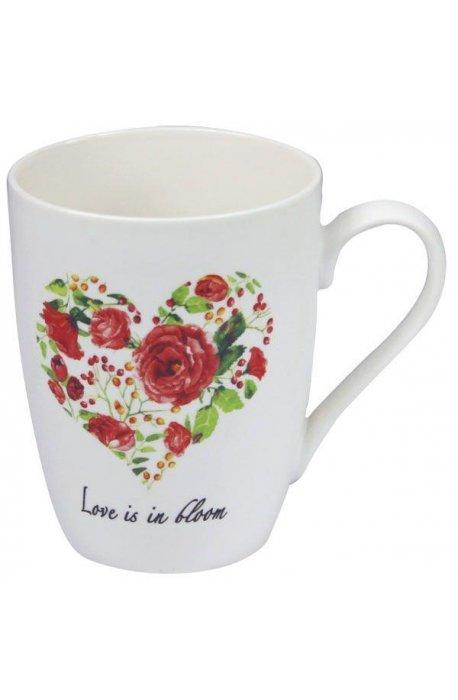 Kubki - Kubek Porcelanowy Biały Z Różą 345ml 9483 CH -