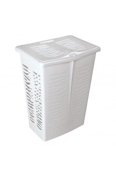 Kosze na bieliznę, pranie - Branq Prostokątny Kosz Na Bieliznę Zebra 42l Biały 1403 -
