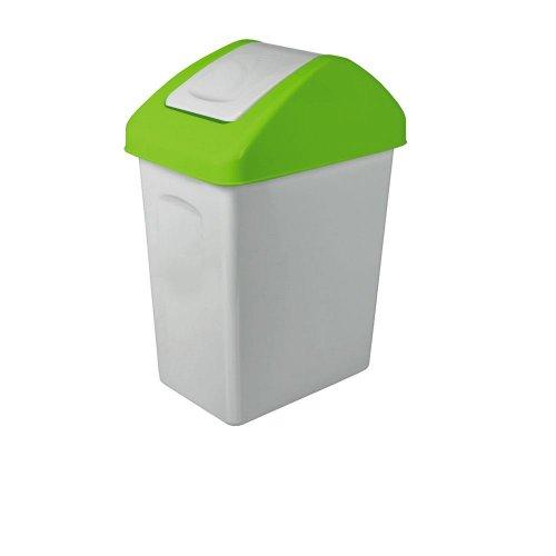 Branq Uchylny Kosz Na Śmieci 25l Do Segregacji Zielony 1325