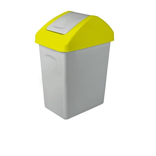 Branq Uchylny Kosz Na Śmieci 25l Do Segregacji Żółty 1325