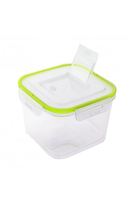 Pojemniki do żywności - Branq Pojemnik Q-Look Go Kwadratowy 1,6l 1164 Transparentny -
